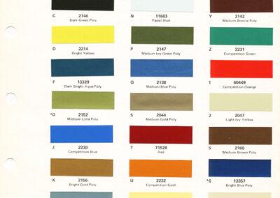 1970 Mercury Paint Chip