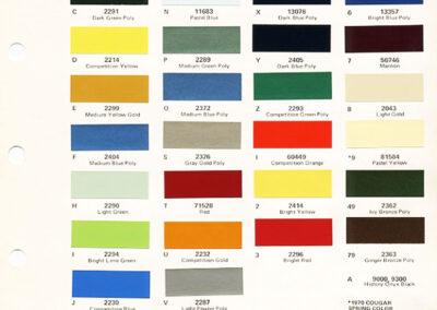 1971 Mercury Paint Chip