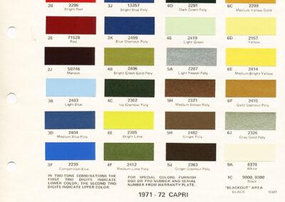 1972 Mercury Paint Chip