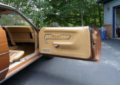 1973 Mercury Cougar Bronze Age Passenger Door Interior