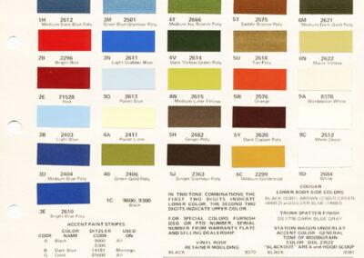1974 Mercury Paint Chip