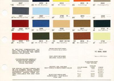 1977 Mercury Paint Chip