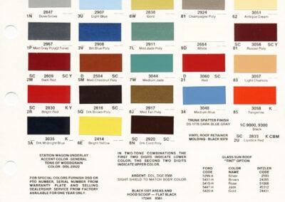 1978 Mercury Paint Chip