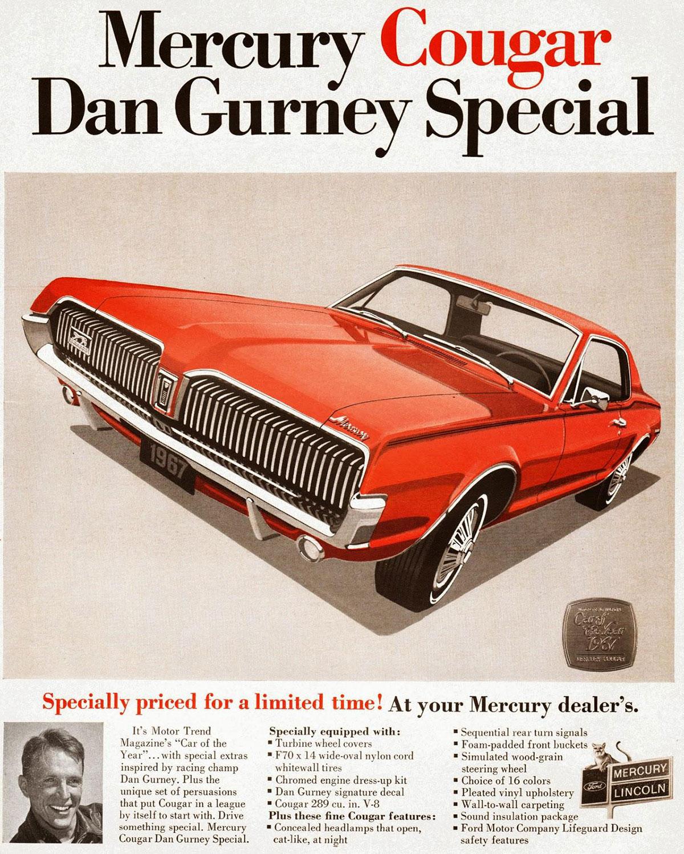 Dan Gurney Special Advertisement