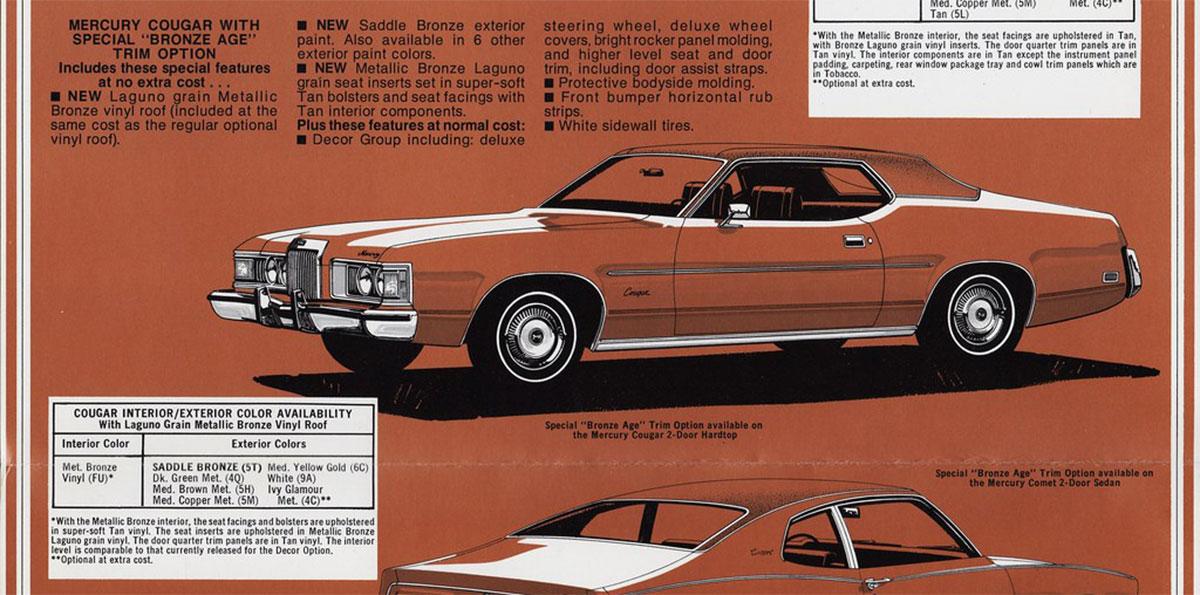 1973 Cougar Bronze Age Info