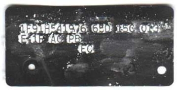 1971 Cougar Buck Tag