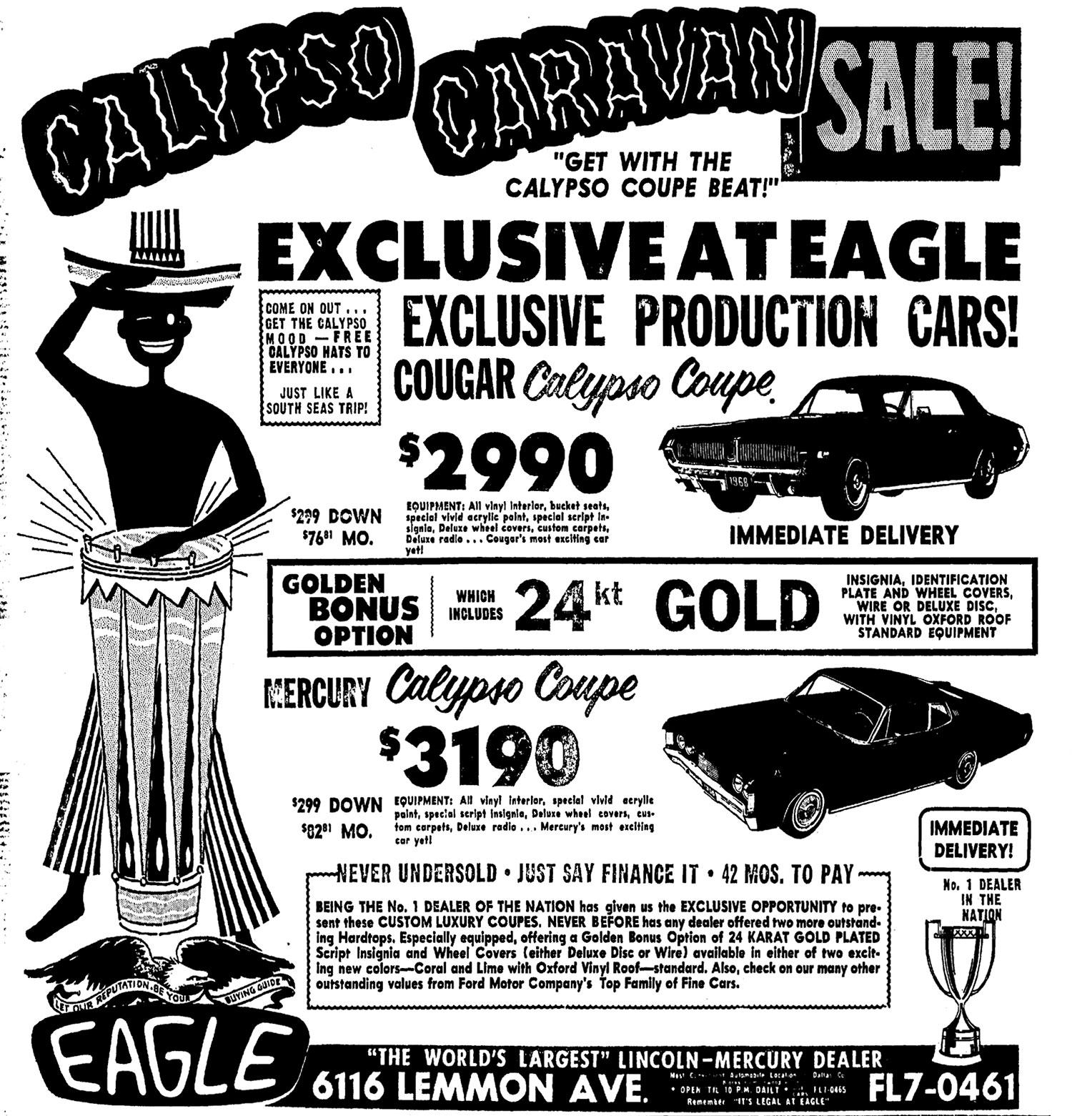 Calypso Coupe Ad