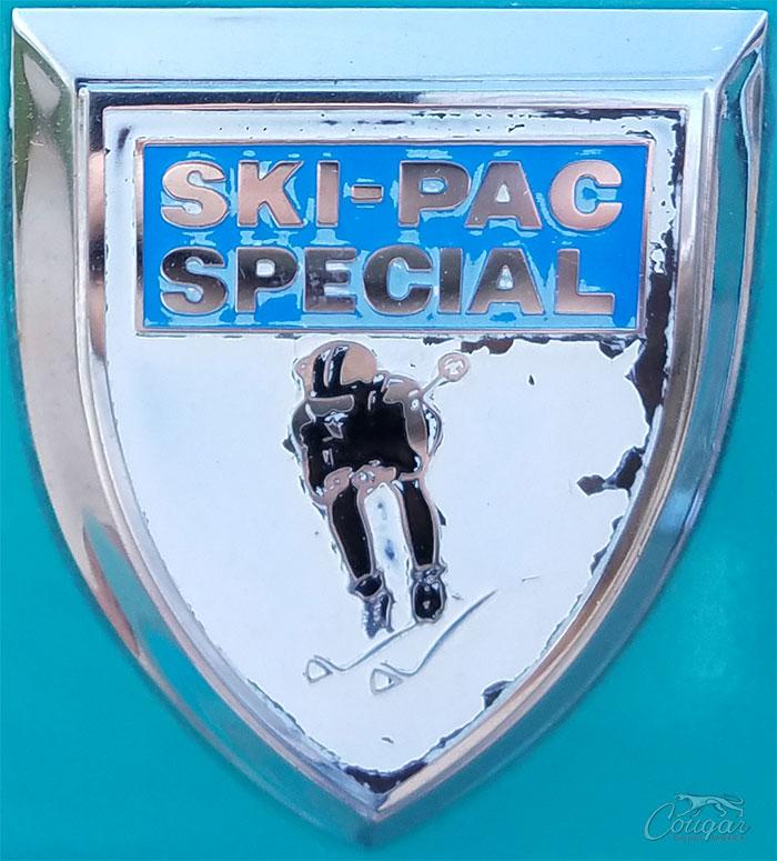1969 Cougar Ski-Pac Special Badge