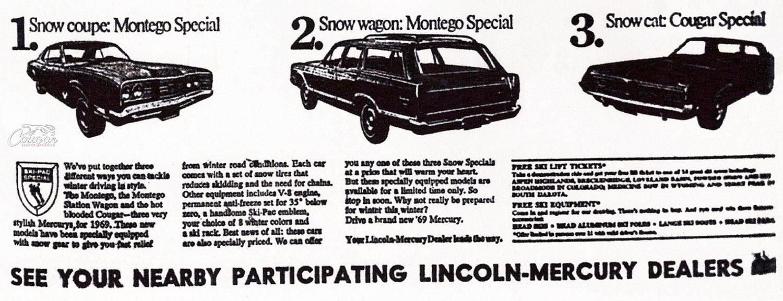1969 Cougar Ski-Pac Special Ad