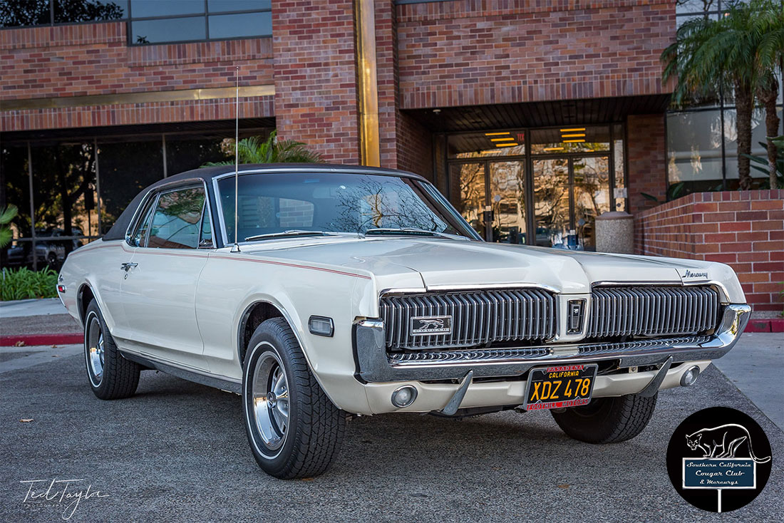 #09385 Ted Taylor 1968 Mercury Cougar Dan Gurney Special