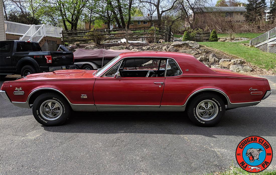 #9953 Dan Mohry 1968 Mercury Cougar GT-E