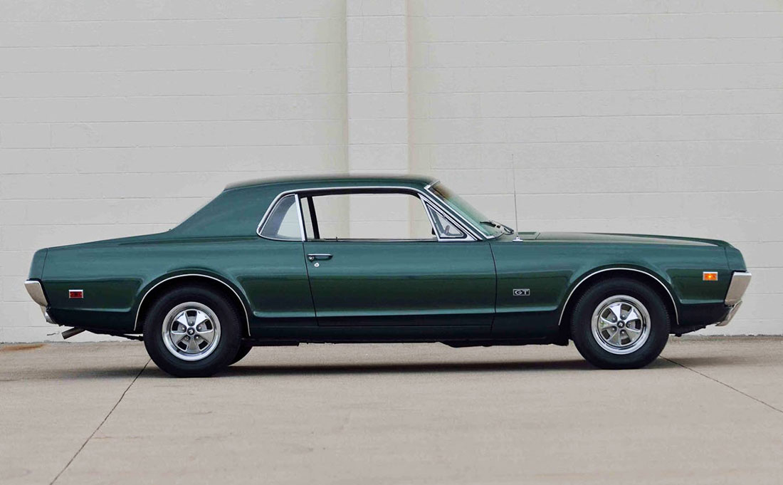 1967 Inverness Green Poly Mercury Cougar GT