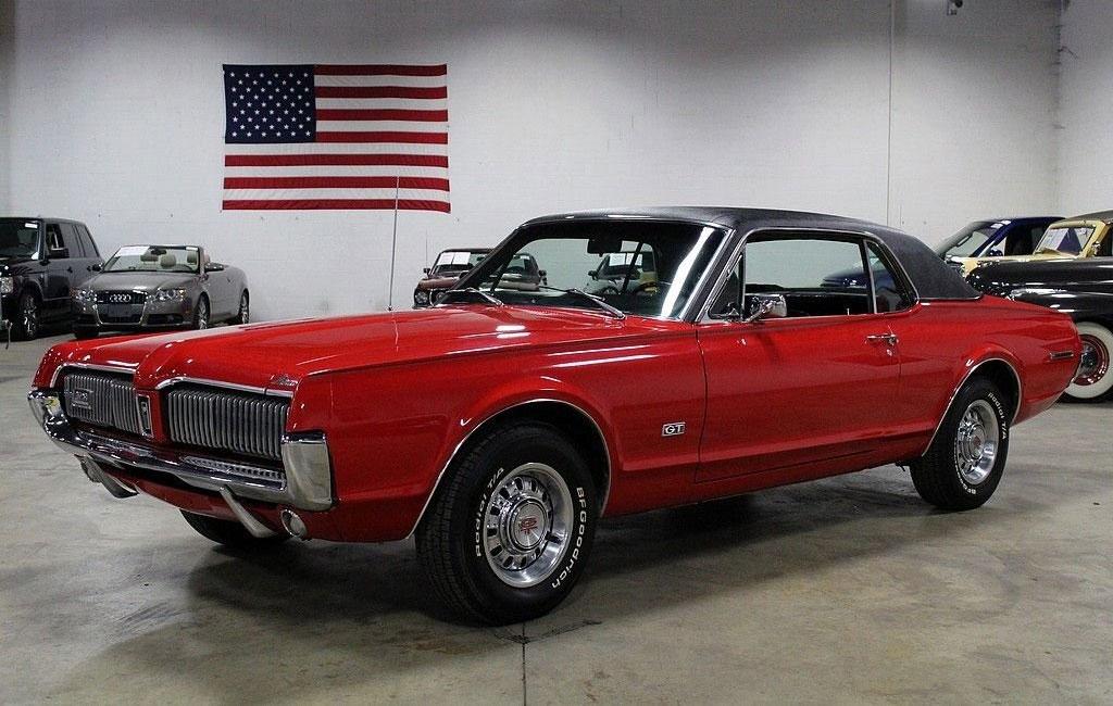 1967 Cardinal Red Mercury Cougar GT