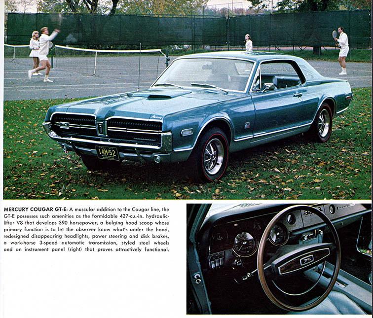 1968 Mercury Cougar GT-E Playboy Ad