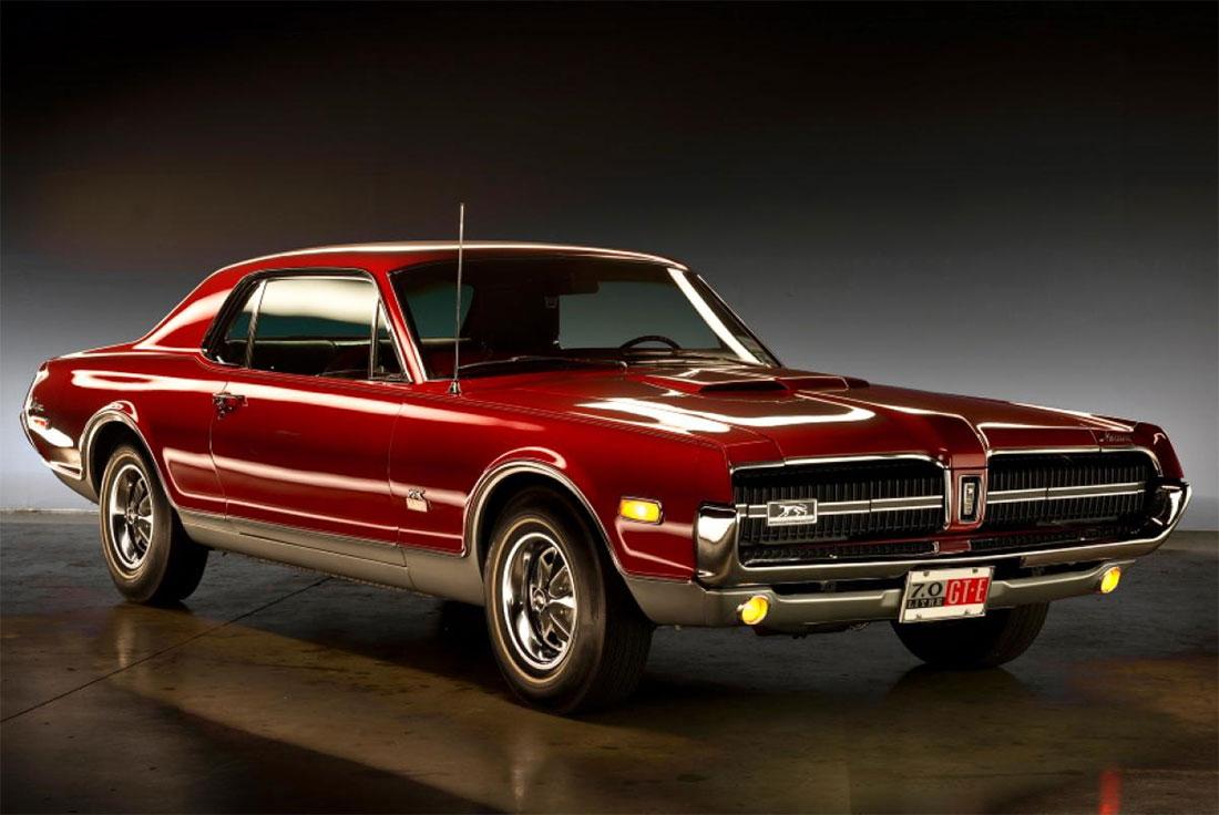 1968 Cardinal Red Mercury Cougar GT-E