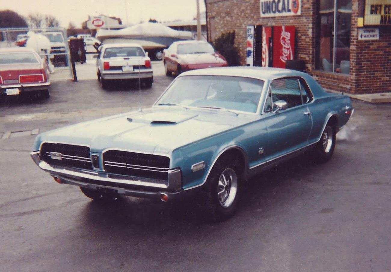 1968 Glacier Blue Mercury Cougar GT-E