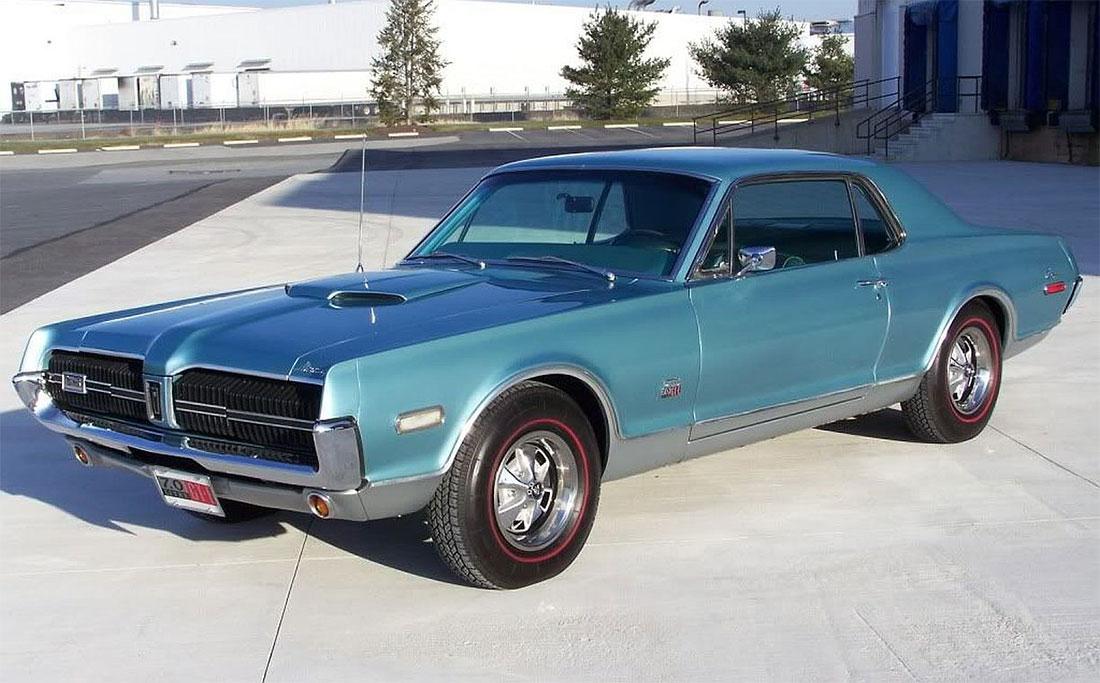 1968 Caribbean Blue Poly Mercury Cougar GT-E