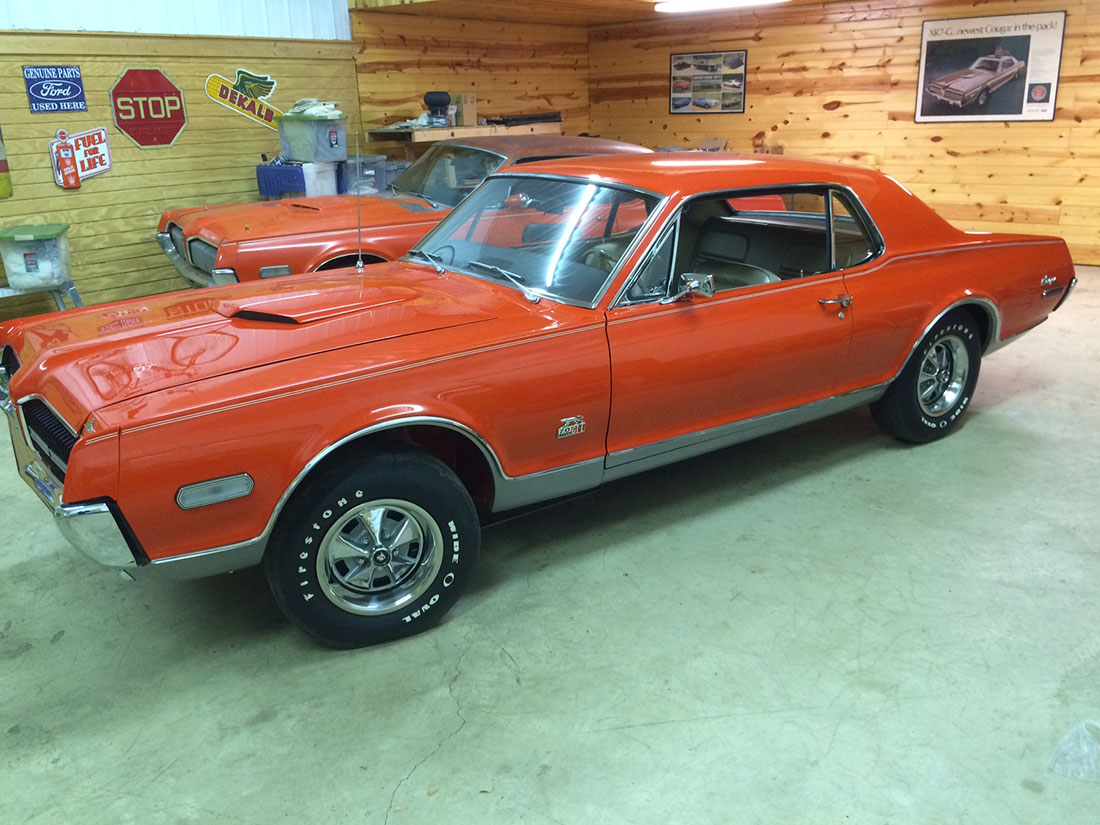 1968 Calypso Coral Mercury Cougar GT-E
