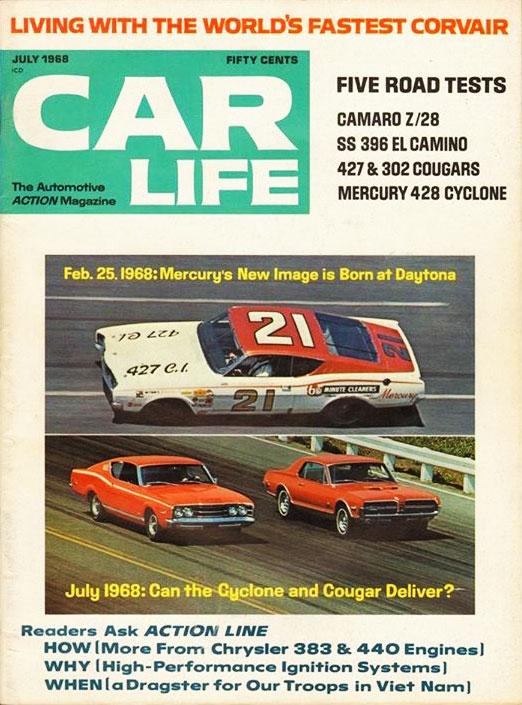 1968 Mercury Cougar GT-E Magazine Cover