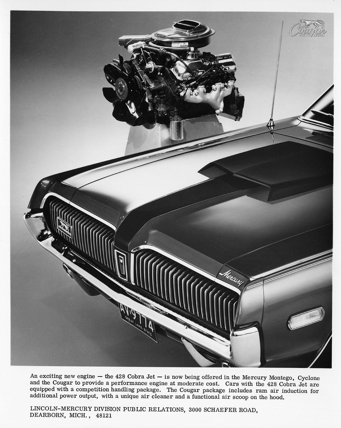1968 Mercury Cougar R-Code Option 428CJ Ad