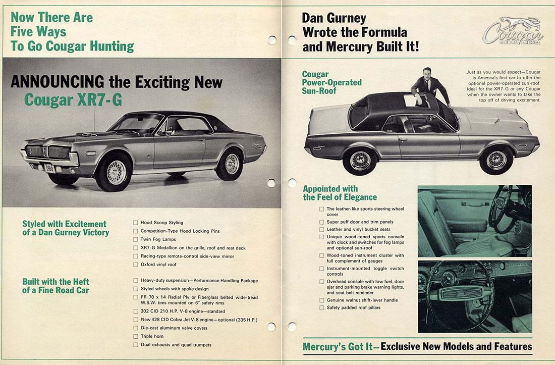 1968 Mercury Cougar XR7-G Promo