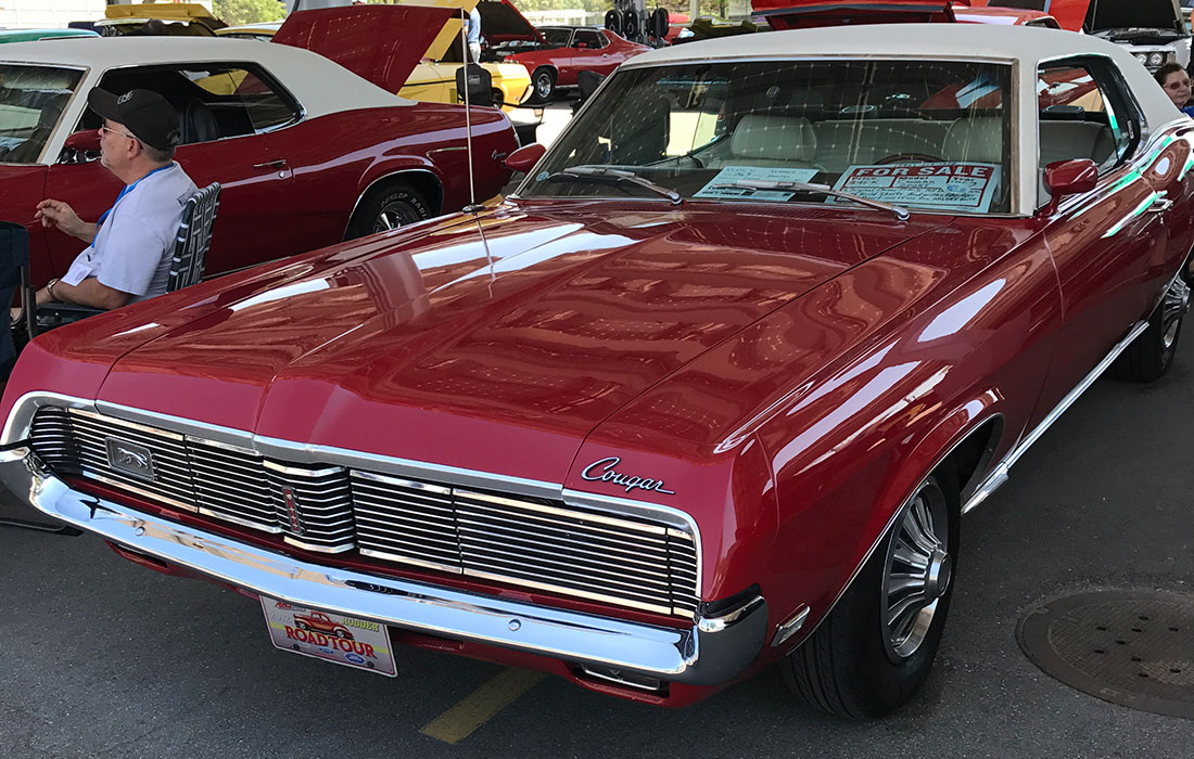 1969 Red Mercury Cougar Sports Special