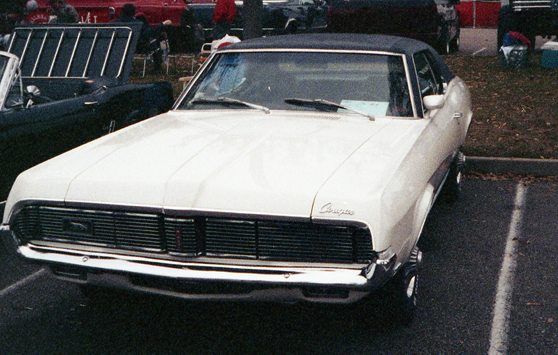 1969 White 1969 Mercury Cougar Sports Special