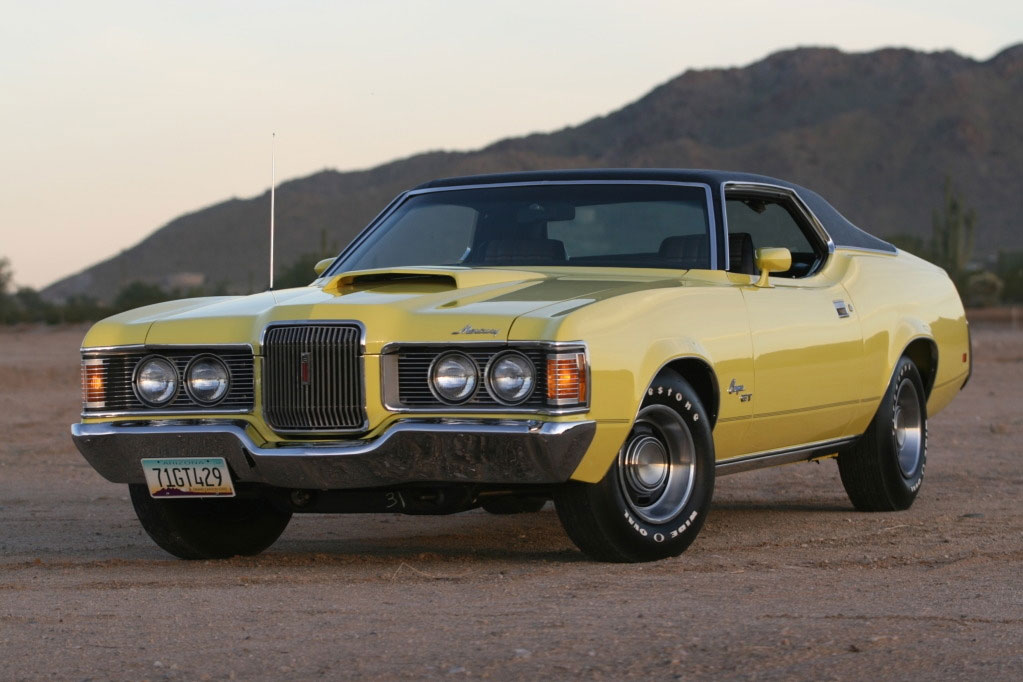 1971 Competition Yellow Mercury Cougar GT