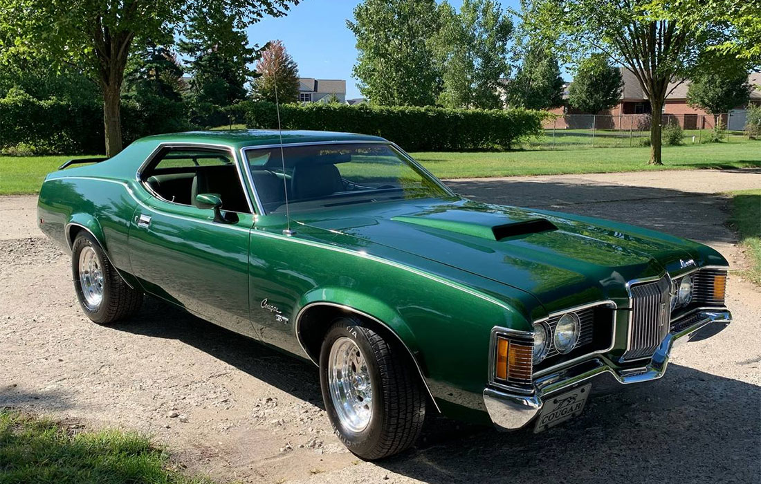 1971 Competition Green Mercury Cougar GT
