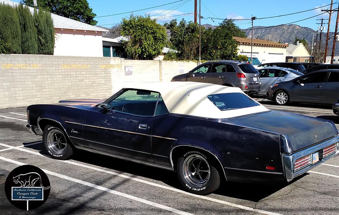 #6669 Mike Brown 1972 Mercury Cougar XR-7 Convertible