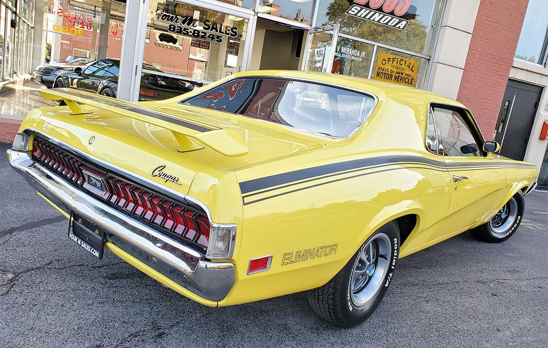1970 Competition Yellow Mercury Cougar Eliminator