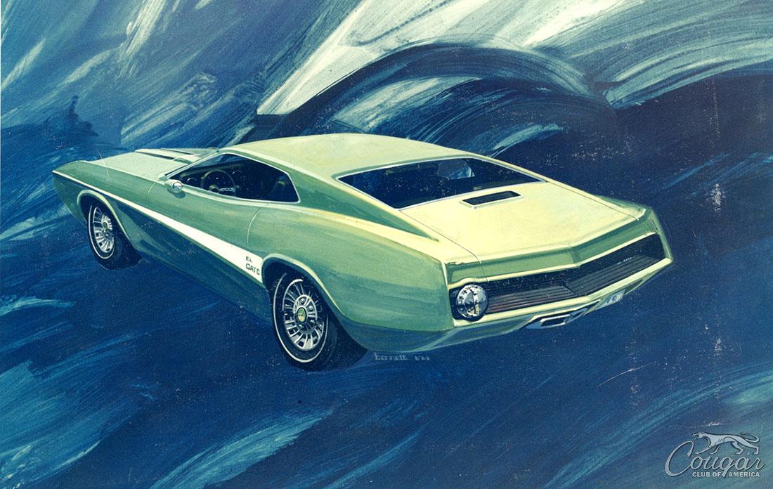 1970 Mercury Cougar El Gato Concept Drawing