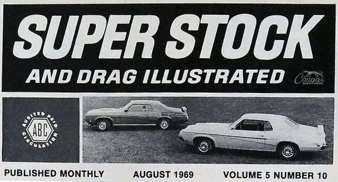1969 Mercury Cougar Eliminator Promotional Super Stock and Drag Illustrated