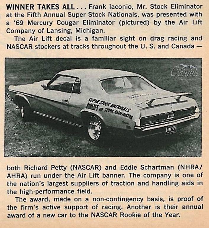 1969 Mercury Cougar Eliminator Promotional