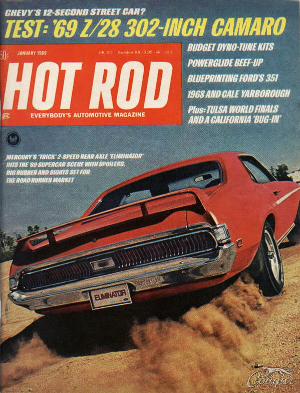 1969 Mercury Cougar Eliminator Prototype Hot Rod Mag Cover