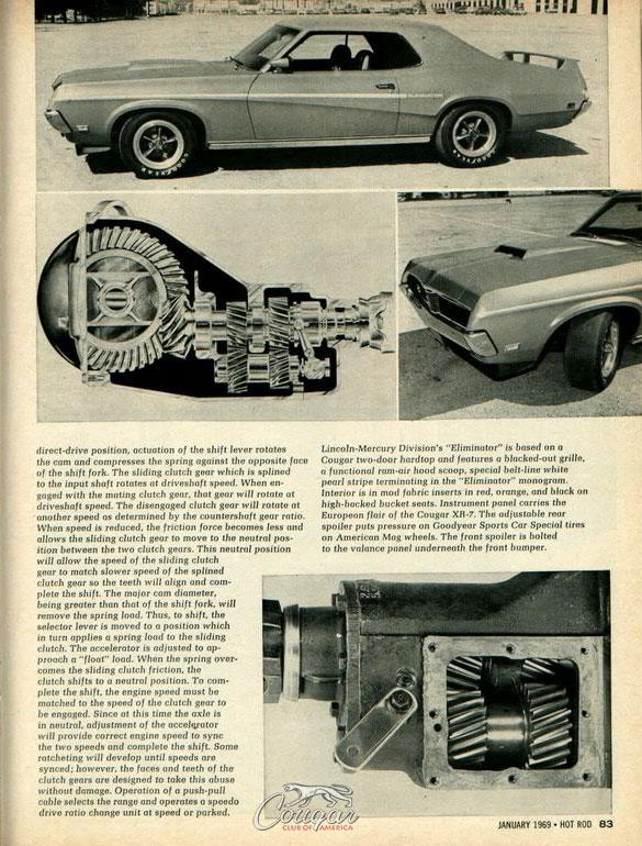 1969 Mercury Cougar Eliminator Prototype Hot Rod Article