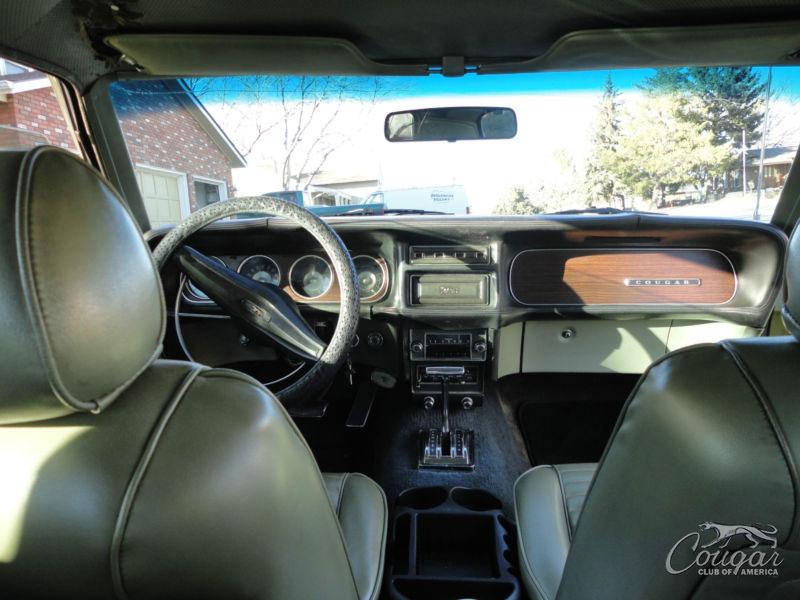 1969½ Golden Mercury Cougar Interior