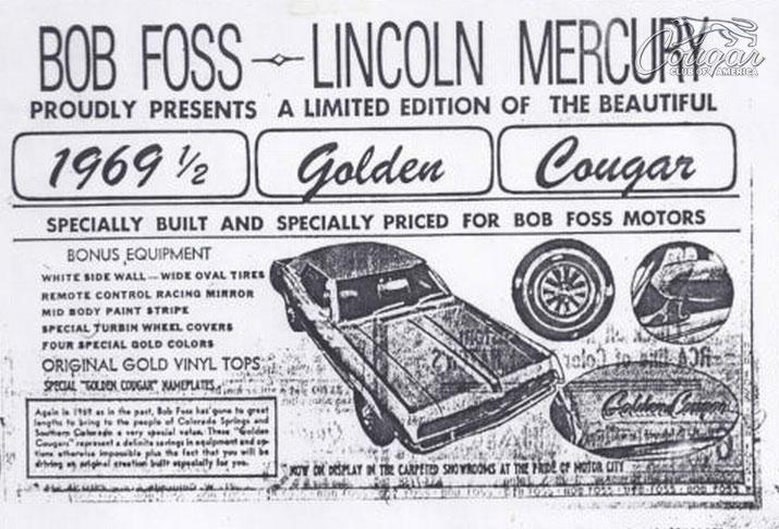 1969½ Golden Mercury Cougar Ad