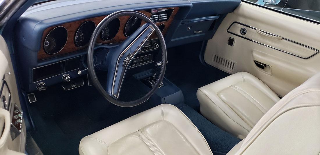 Last Convertible - 1973 Mercury Cougar XR-7 Convertible Interior