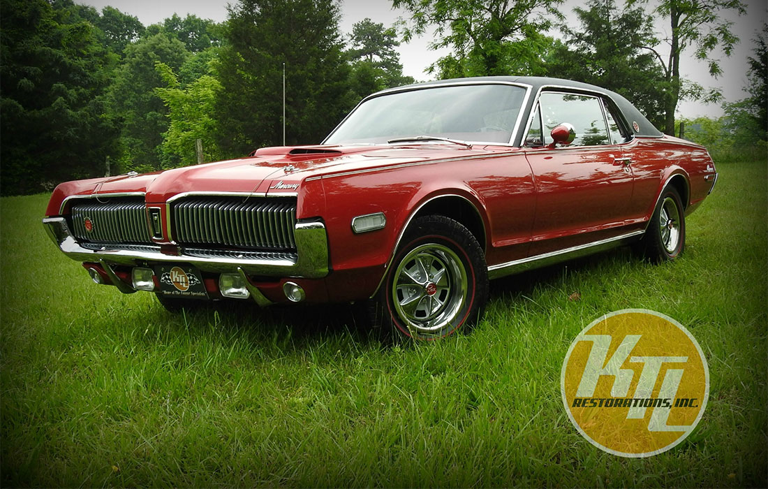 1968 Cardinal Red Mercury Cougar XR7-G