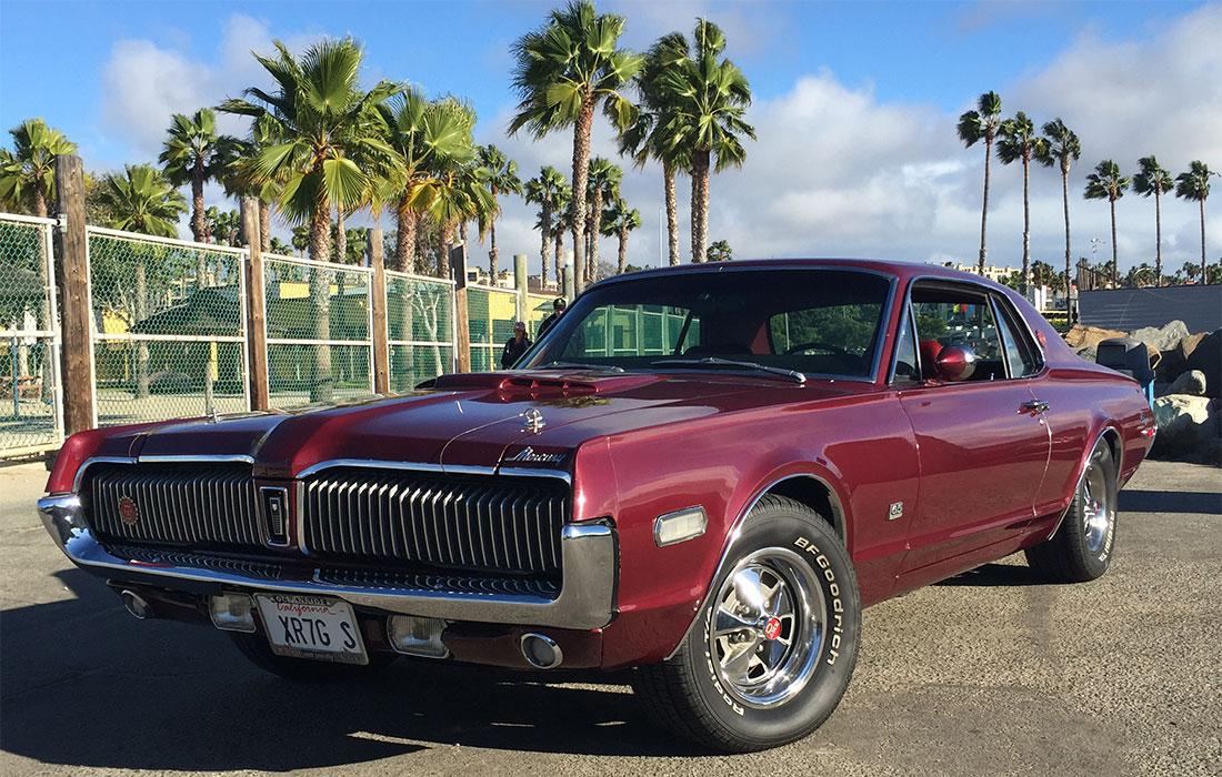1968 Black Cherry Mercury Cougar XR7-G