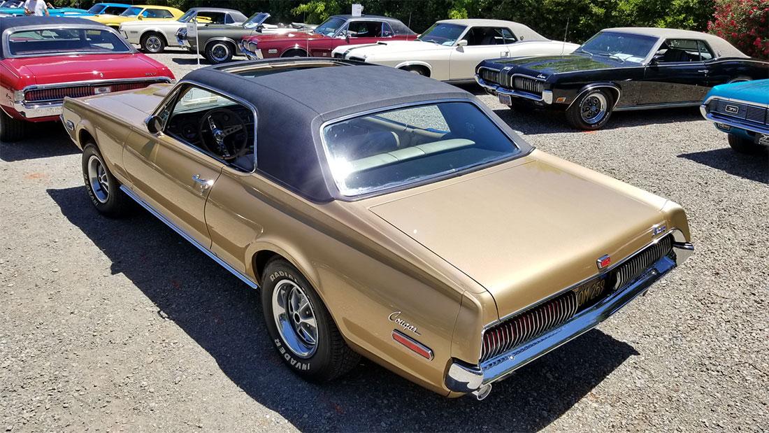 1968 Grecian Gold Poly. Mercury Cougar XR7-G