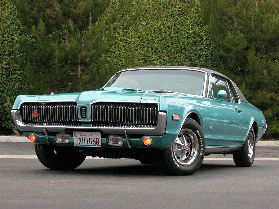 1968 Caribbean Blue Poly. Mercury Cougar XR7-G