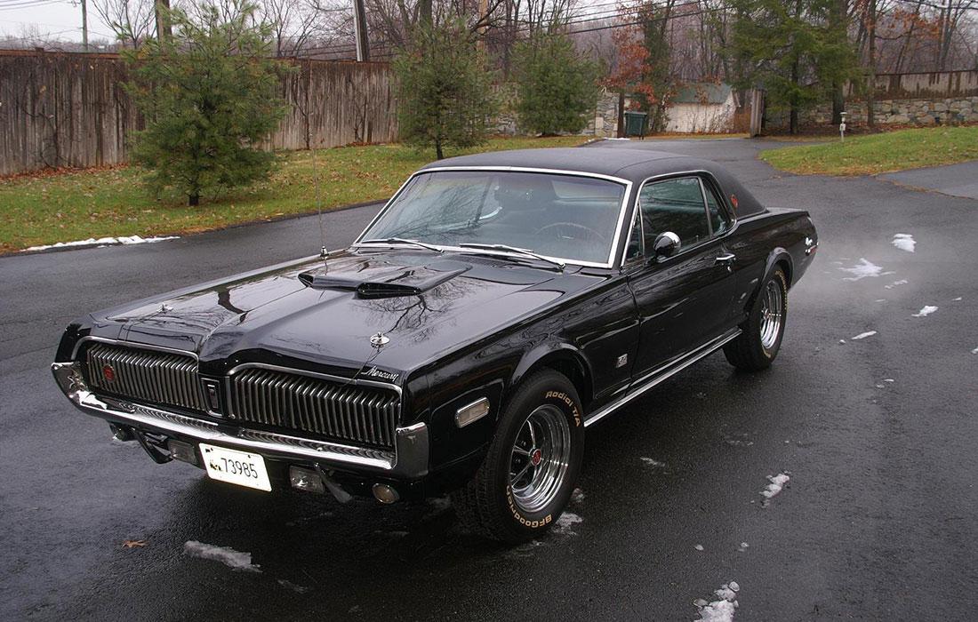 1968 Onyx Mercury Cougar XR7-G