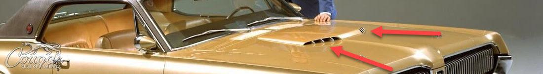 Mercury Cougar XR7-G Prototype Hood Scoop