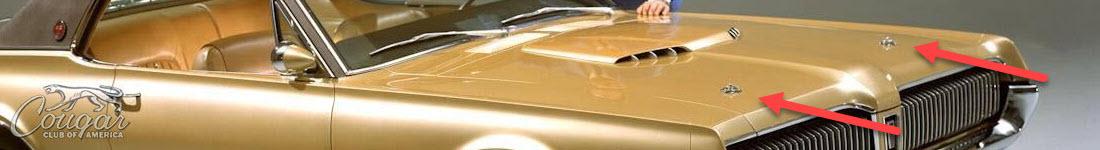 Mercury Cougar XR7-G Prototype Hood Pin Clips