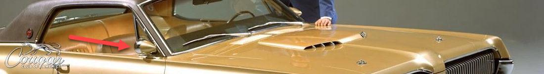 Mercury Cougar XR7-G Prototype Hood Racing Mirror