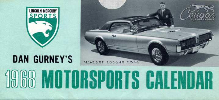 1968 Mercury Cougar XR7-G Prototype LM Calendar Green
