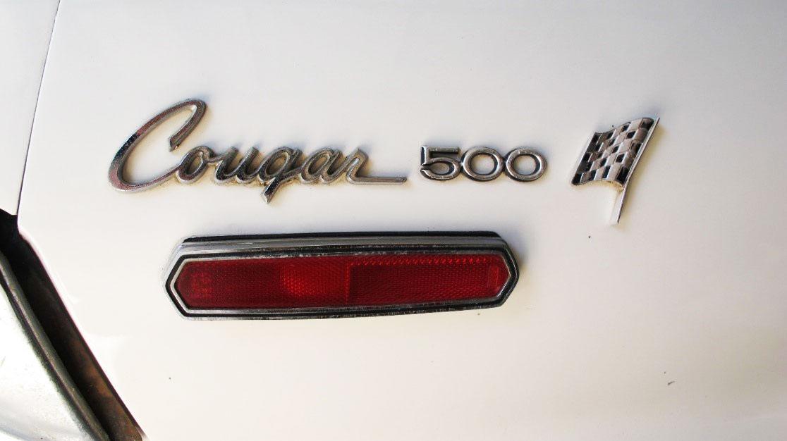 1968 Mercury Cougar 500 Badges