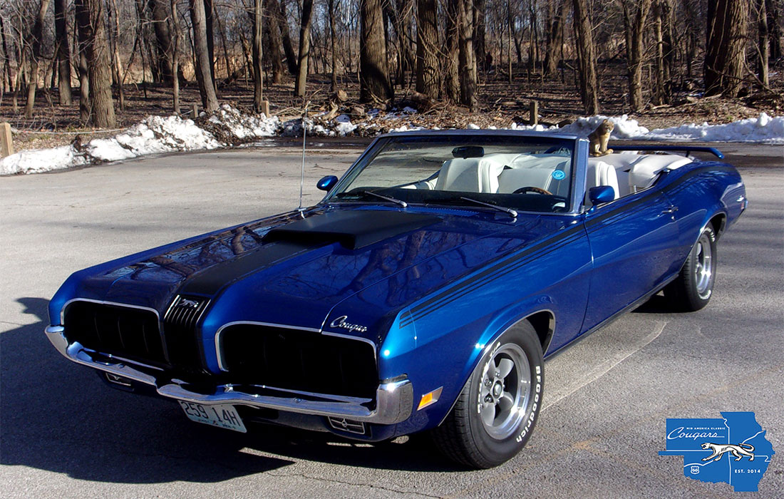 #9795 Bill Bauer 1970 Mercury Cougar Convertible
